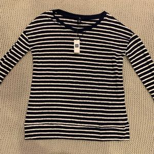 Brand New With Tags Gap Long Sleeve Stripped Top S